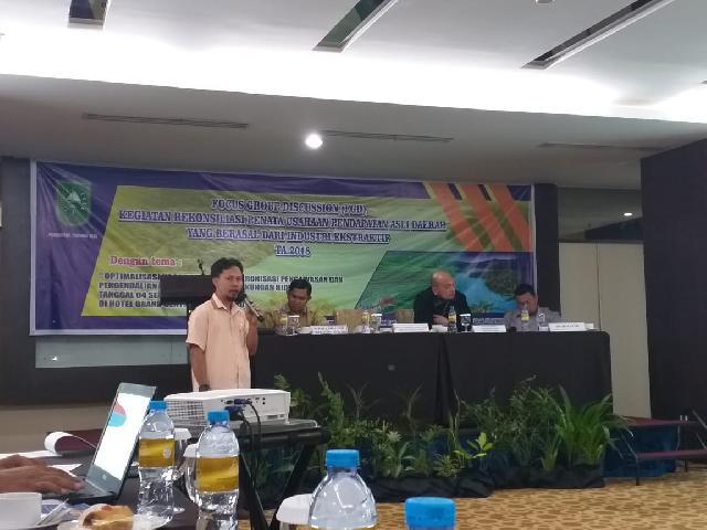 FGD Kegiatan Rekonsiliasi Penata Usahaan Pendapatan Asli Daerah yang Berasal Dari Industri Ekstraktif